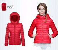 Ladies Winter Coat Ladies Warm Jacket Down Padded Collar Warm Hooded Outwear New