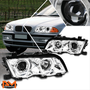 For 99-01 BMW E46 3-Series 3D LED U-Halo Projector Headlight/Lamp Chrome Housing