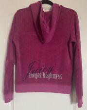 "VINTAGE Juicy Couture Hoodie Size XL ""Royal Highness"" Pink Zip Up"