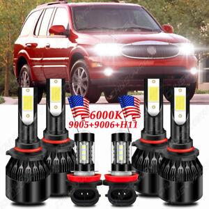 For Buick Rainier 2004 2005 2006 2007 LED Headlight Hi Low + Fog Light 6 Bulbs