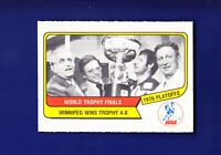 World Trophy Final 1976-77 O-PEE-CHEE OPC WHA Hockey #132 (NM) Winnipeg Jets