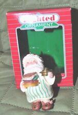 Hallmark Lighted Christmas Ornament Santa's Shack 1986 - NM+ w/ box