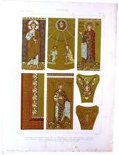 Stampa antica Basilica San Marco i Mosaici VENEZIA 1920 Old antique print VENICE