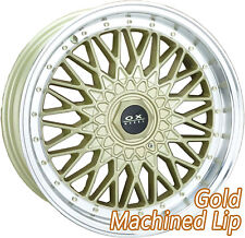 "OX688 17x7.5"" BLANK 32P Gold Machine Lip Mag Wheel Rim for some Most Vehicles"