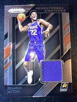 2018-19 Prizm Deandre Ayton Rookie Sensational Swatches Jersey Relic #66 Suns!