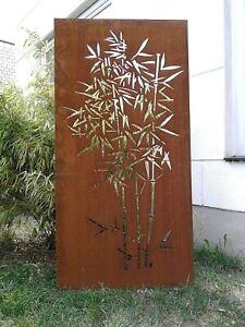 Corten Stahl Edelrost Garten Sichtschutz aus Cortenstahl 1.2mm Rost B75H180cm