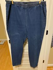 Catherines Everyday Fit Womens Blue Jeans, Elastic Waist, Size 2X/22/24W (1st)