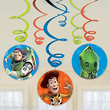 6 DISNEY PIXAR'S TOY STORY GANG Children's PARTY DA APPENDERE DECORAZIONI SWIRLS