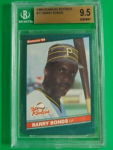 1986 Donruss the Rookies - BARRY BONDS - BGS 9.5 - #11 - Old Label - Rc - QTY