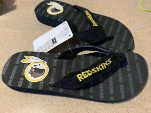 Washington Redskins NFL Sequined Flip Flops, Size Small W 7-8, M 5-6 NWT