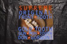 SUPREME Original Front Tooth Gold Tooth Don Gorgon Sticker box logo camp cap