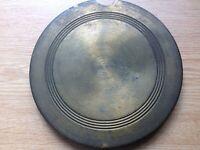 Antique Wall Clock Pendulum Bob Brass Clad Cast Iron 761g 150mm Diameter