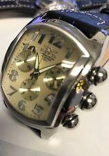 New Invicta 9819 Lupah Chronograph Black Leather watch