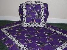 **NIGHTMARE BEFORE CHRISTMAS**handmade baby blanket w/matching diaper bag/tote