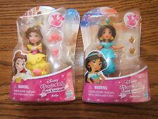 NEW Disney Princess Little Kingdom Belle & Jasmine Snap-Ins Doll Figure Set of 2