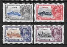 1935 King George V SG144 to SG147 Silver Jubilee Set of 4 Mint Hinged CYPRUS