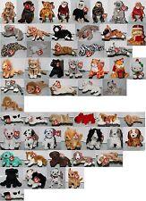 #12 Ty-Beanie Baby Beanies (Stuffed Toy) Dog Monkey Cat Select