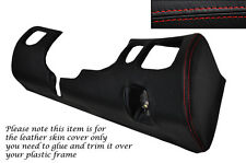 RED Stitch driver inferiore DASH TRIM pelle copertura Si Adatta Mitsubishi GTO 3000GT 92-99