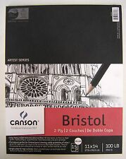 "Canson Artist Series Bristol Vellum Paper Pad   9"" x 12""   100 lb  15 Sheets"