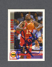Larry Smith signed Rockets 1992-93 Sky Box BB card