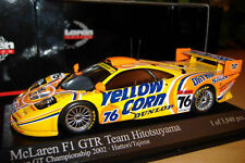 McLAREN F1 GTR BMW #76 Yellow Corn 2002 GT Champion PMA Minichamps 1:43