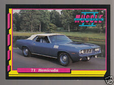 1971 PLYMOUTH HEMICUDA Hemi Cuda Barracuda V8 Muscle Car Photo 1992 TRADING CARD
