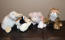 WEBKINZ Lil Kinz Animals  Pig Tiger Cow Googles Lot 4
