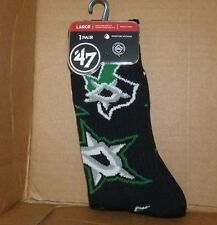 NEW NHL Dallas Stars Gameday Socks 1 Pair Men Women L Large 47 Brand NEW NWT