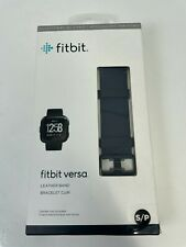 Fitbit Horween Leather Band Midnight Blue Size S/P Small 22mm wide NIB New!