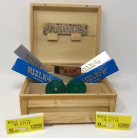 RIZLA ROLLING BOX SMOKERS ESSENTIAL - GRINDER ROACH - WOODEN BOX - GIFT PRESENT
