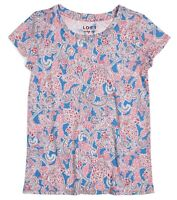 LOFT Women's L - NWT$29 Colorful Red/Blue Paisley Cap Sleeve Vintage Soft Tee