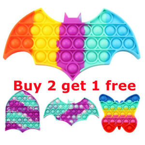 Popit Fidget Toy Push Bubble Sensory Stress Relief Kids Family Gift Game Rainbow