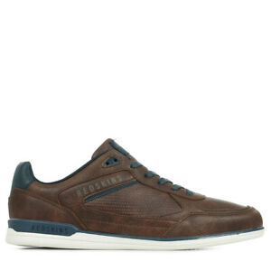 Chaussures Baskets Redskins homme Aurore taille Marron Synthétique Lacets