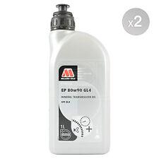 Millers Oils EP 80w-90 GL4 Gear Oil 80W90 GL-4 Transmission Fluid 2 x 1 Litre 2L