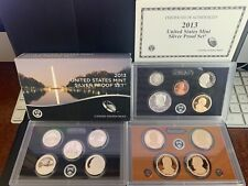 New Listing2013 Us Mint Silver Proof Set With Box & Coa (14 Coins)