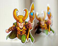 "#5013 Chibi Cute Manga Loki Thor Marvel Avengers Endgame Comics 4"" Decal sticker"