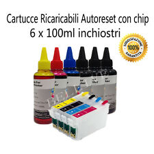 KIT 4 Cartucce Ricaricabili COMPATIBILE per Epson BX305F BX305FW SX235W BL