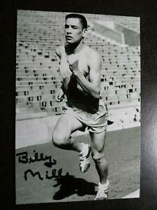 BILLY MILLS Authentic Hand Signed Autograph 4X6 Photo - OLYMPIC GOLD MEDAL 1964
