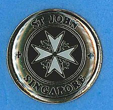 ST. JOHN AMBULANCE - SINGAPORE OFFICIAL METAL PIN BADGE ~ MINT