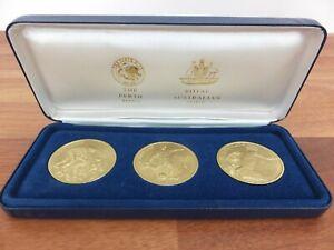 Panasonic Official Partner Perth Mint Sydney 2000 Olympics 5 Dollar 3 x Coin Set
