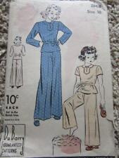VINTAGE DU BARRY SEWING PATTERN GIRLS SIZE 10 PAJAMAS LOUNGEWEAR SO SWEET