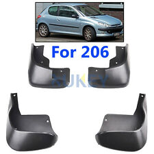 Apto Para Peugeot 206 3DR & Philippines Hatch Barro Solapa Solapas Splash guardia Guardabarros Hatchback