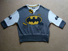 Official BATMAN Women's Lounge Crop Sweatshirt M 10-12 BNWT Grey Top Bat Man