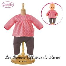 COROLLE - Ensemble blouse framboise et jean pour poupon 30 cm - Neuf - emballé