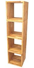 4er-Set Würfel, Kubus ca. 45x45x45cm, aus extra dickem Eiche-Massivholz, geölt