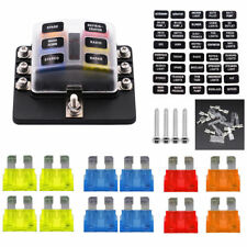 6-way Automotive Car Fuse Box Blade Fuse Holder LED Waterpoof 5A/10A/15A/20A US