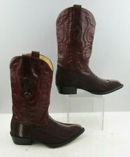 Men's Los Altos Burgundy Sting Ray Leather Western Cowboy Boots Size : 7 EE