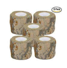 5 Roll Military Bandage Tape Scope Stretch Gun Rifle Wrap For Camping Hunting
