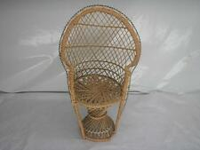 Old Vtg Doll/Bear Wicker Chair Furniture Display Prop High Back