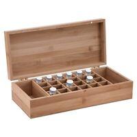 Boîte De Rangement Pour Huiles Essentielles De Bambou Avec 26 Grilles Étui D 3Y2